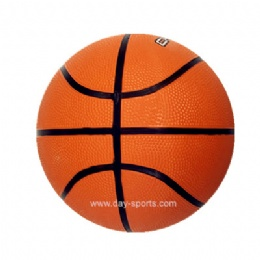 Orange Rubber Basketball