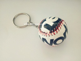 Hand-sewn Baseball Key Chain