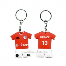 Soccer Uniform Key Chain